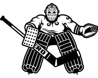 Hockey Goalie Svg Etsy