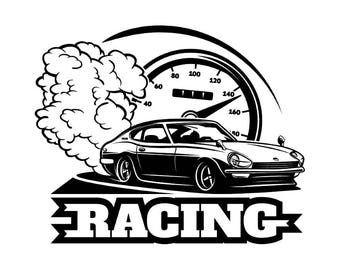Mechanic Logo 12 Piston Crossed Cylinder Engine Auto Car