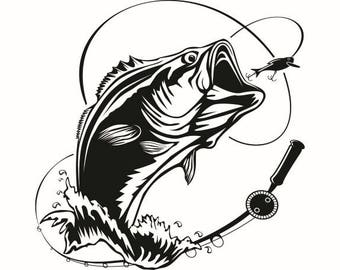 Bass Fish Svg Etsy