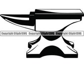 Bench Anvil 1 Hand Holding Hammer Forge Steel Metal Iron Tool Build Occupation Anvil Craftsman .SVG .EPS .PNG Vector Cricut Cutting