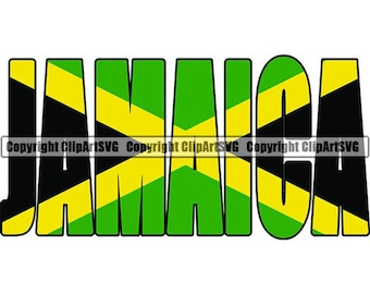 Flag With Text Jamaica Wall Art Design Various Sizes