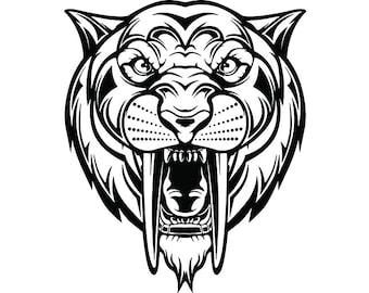 Sabertooth Tiger Etsy