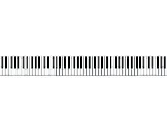 picture regarding Printable Piano Keys referred to as Printable piano keys Etsy