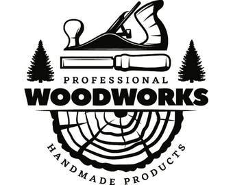 Woodworking Logo Etsy
