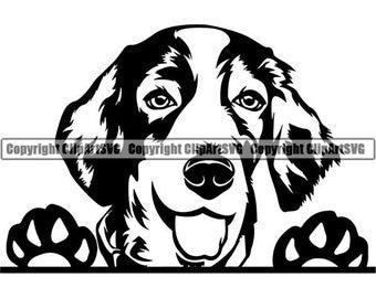 Springer Spaniel Decal 99 Problems M022 8 Inch paw dog Window Sticker