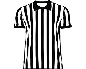 2177ad66c Referee Shirt  1 Official Jersey Uniform Pinstripes Outfit Sports Basketball  Soccer Game Judge .SVG .PNG Clipart Vector Cricut Cut Cutting