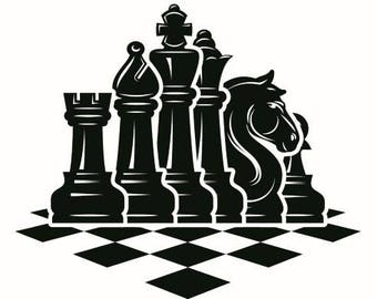 kids board games etsy Old Games From the 1970s chess logo 5 chessboard pieces setup board game strategy player club petition fide master svg eps clipart vector cricut cut cutting