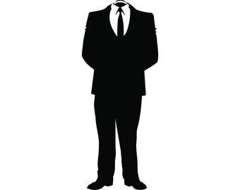 Business Man #4 No Head Headless Male Suit Tie Company Entrepreneur Finance Outfit .SVG .EPS .PNG Clipart Vector Cricut Cut Cutting File