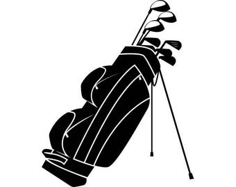 golf club clip art etsy rh etsy com golf bag black and white clipart
