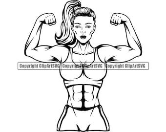 Bodybuilding Clipart Etsy