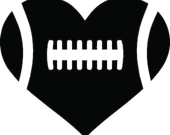 Football #6 Heart Ball Laces Love Sports League Equipment Team Game Field Logo .SVG .EPS .PNG Digital Clipart Vector Cricut Cut Cutting