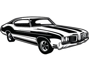 Classic Car Svg Etsy