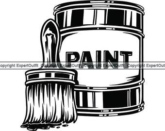 Paint Can Cartoon Stock Vector (Royalty Free) 65569615