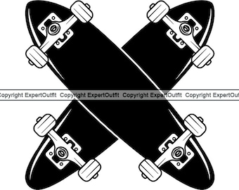 e85ab389 Sports Skateboarding Skateboard Skateboarder Wheel Truck Competition Park  Half Pipe Trick Logo .SVG .PNG Clipart Vector Cricut Cut Cutting