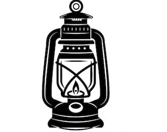 Lantern 1 Kerosene Lamp Light Fire Camping Hiking Hike Hiker Trail Mine Mining SVG EPS PNG Clipart Vector Cricut Cut Cutting Download