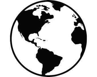 Globe svg   Etsy