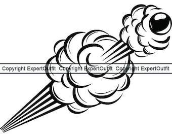 cannon bullet etsy 105Mm Heat explosion 1 bomb bullet shoot explode gun shot cannon smoke fire weapon war violence kill logo svg clipart vector cricut cut cutting