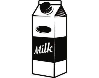 milk carton clipart etsy rh etsy com milk carton clipart black and white Cartoon Milk