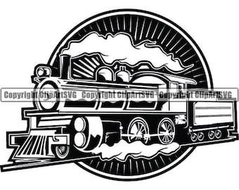 Train Engine Clipart Etsy