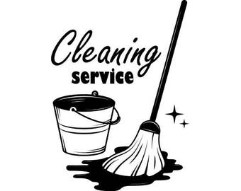 Cleaning Logo #9 Maid Service Housekeeper Housekeeping