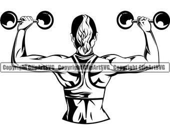 fitness clipart black and white - Google Search | Full body workout  routine, Arm workout men, Ab workout at home