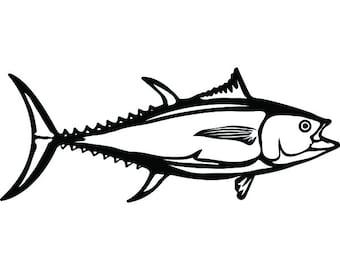 Tuna Fish #4 Fishing Angling Salt Water Ocean Sea Yellowfin Bluefin Animal Food Seafood Logo .SVG .PNG Clipart Vector Cricut Cut Cutting