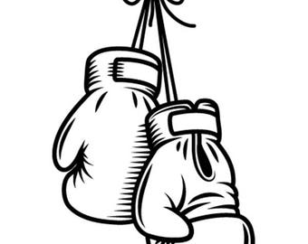 clipart boxing etsy rh etsy com Boxing Graphic Art Barbecue Clip Art Boxing