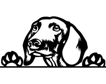 hot dog svg etsy BBQ Event dachshund 71 peeking dog breed wire smooth long haired k 9 animal pet hound puppy hot logo svg eps clipart vector cricut cut cutting