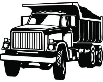 Truck Driver 14 Dump Trucker Industrial Construction Transportation Company Trucking Logo SVG EPS PNG Vector Cricut Cut Cutting