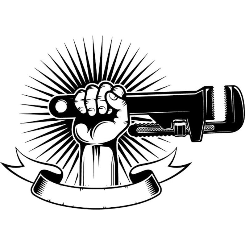 Plumbing Logo 10 Hand Holding Pipe Wrench Plumber  acee50165141