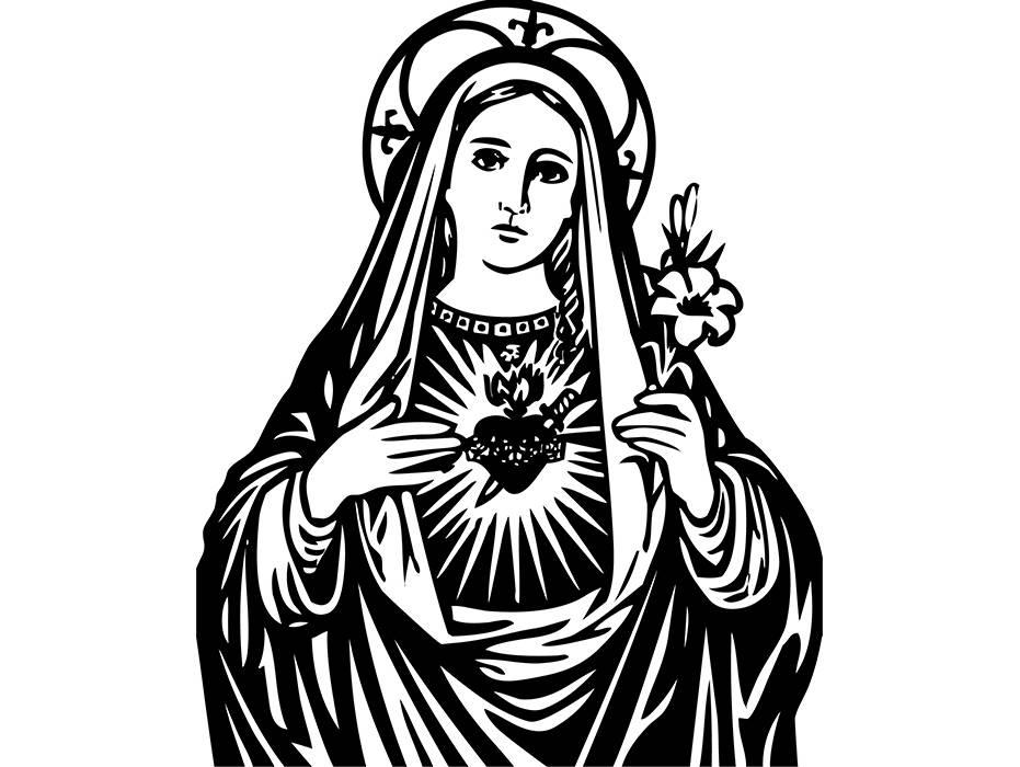 Virgin Mary 1 Christian Christianity Religion Religious   Etsy