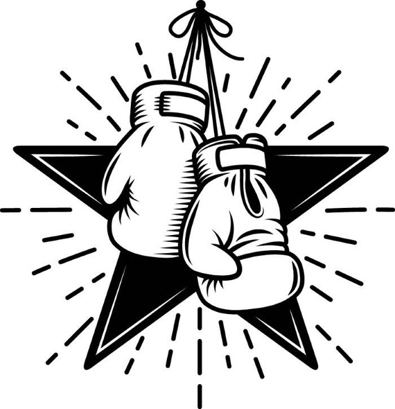 boksen logo 3 sterren handschoenen strijd vechten fighter