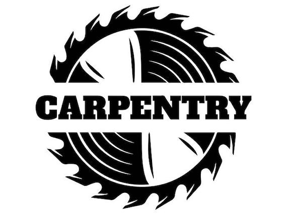 Woodworking Logo 11 Saw Blade Carpenter Tool Build | Etsy  Woodworking Log...