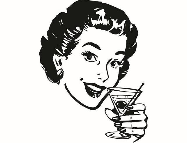 Retro Woman 1 Alcohol Drink Classic Female Lady Vintage   Etsy