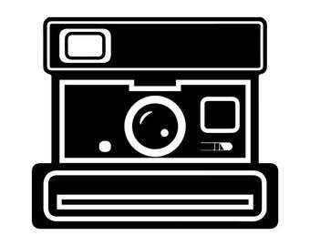 Camera #9 Instant Polaroid Photography Photographer Digital Lens Photo Equipment Art Vintage Retro .SVG .EPS .PNG Vector Cricut Cut Cutting