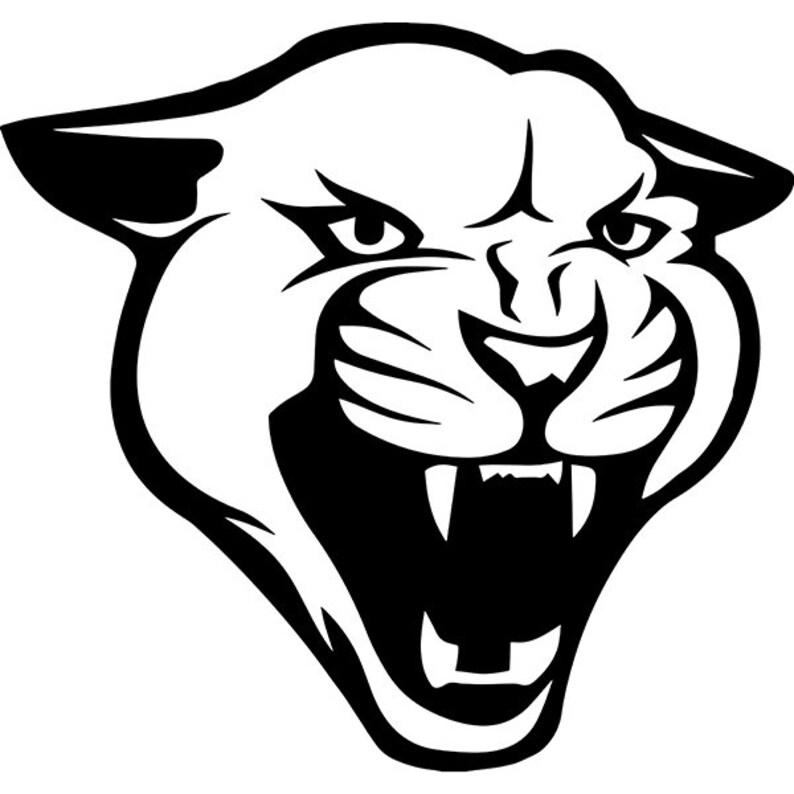 Cougar 5 Mascot Head Face Animal Growling Cartoon College
