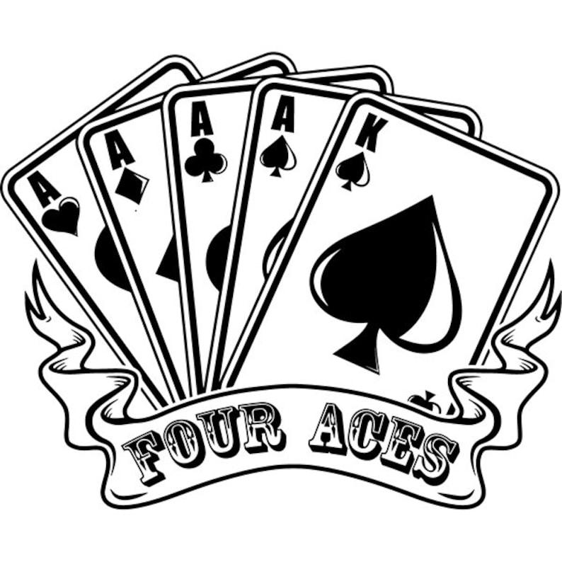 bbcc433eef7 Poker 16 Four Aces Playing Card Gambling Gamble Casino Bet