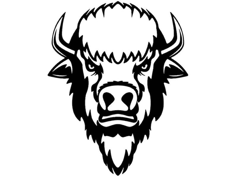Buffalo 2 Bison Head Wild Animal Wildlife Mascot Company Logo