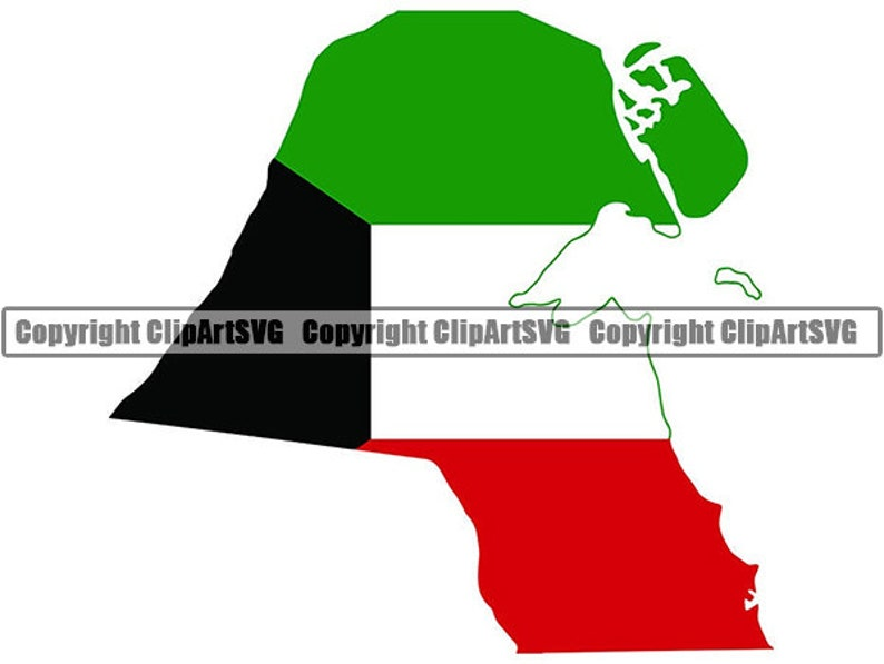 Kuwait Kuwaiti Arab Arabic Middle East Country World National Nation Flag  Map Logo Art  JPG  PNG Clipart Clip Art Design Graphic Download
