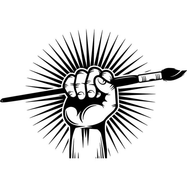 Painting Logo 18 Hand Holding Paintbrush Paint Brush Painter