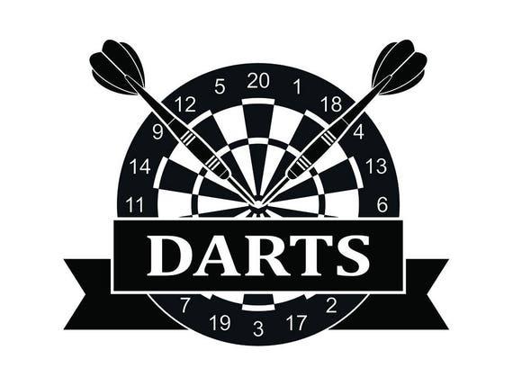 Darts Logo 22 Dartboard Tips Flights Board Championship Etsy
