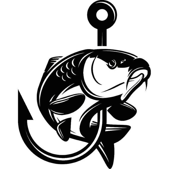 carp fishing 7 logo angling fish hook fresh water hunting etsy rh etsy com carp logo design carp logic mimic mixers