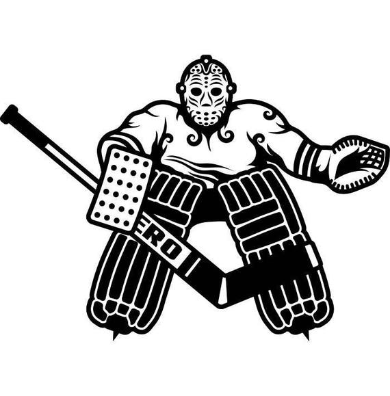 Hockey Player 1 Goalie Stick Mask Pads Stadium Arena Ice Rink Etsy