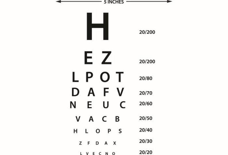 Eye Chart Doctor Optometrist Ophthalmologist Problem Disease Etsy
