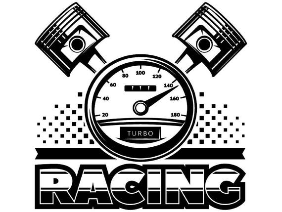Racing Logo 2 Racecar Equipment Auto Mechanic Repair Shop