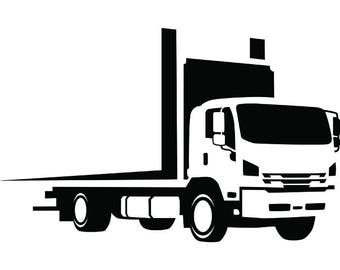 Truck Driver #27 Trucker Big Rigg 18 Wheeler Semi Tractor Trailer Cab Flat Bed Company Trucking Logo.SVG .EPS .PNG Vector Cricut Cut Cutting