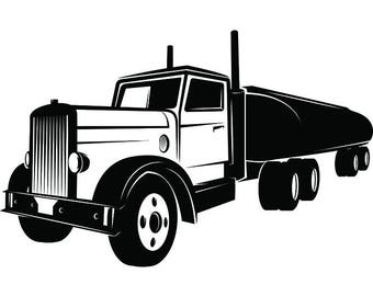 Truck Driver #26 Trucker Big Rigg 18 Wheeler Semi Tractor Trailer Cab Flat Bed Company Trucking Logo.SVG .EPS .PNG Vector Cricut Cut Cutting