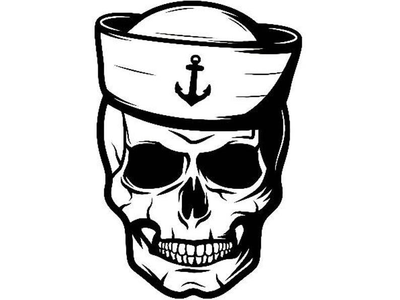 Sailor Skull 2 Nautical Hat Naval Navy Ship Boat Captain Cap
