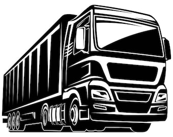 Truck Driver #4 Trucker Big Rigg 18 Wheeler Semi Tractor Trailer Cab Flat Bed Company Trucking Logo .SVG .EPS .PNG Vector Cricut Cut Cutting