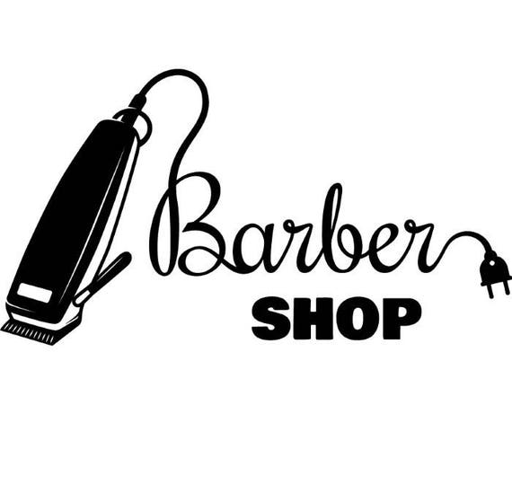 Barber Logo 2 Salon Shop Haircut Hair Cut Groom Grooming Etsy